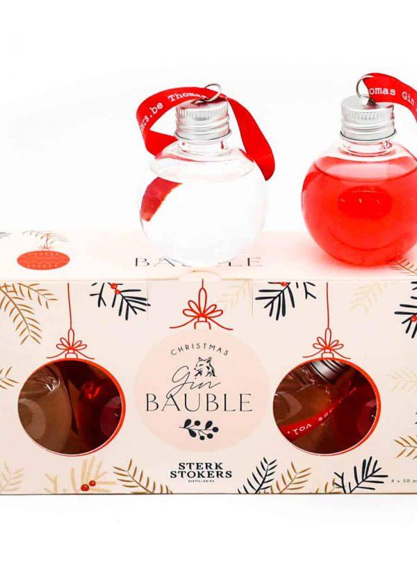 Gevulde kerstballen met drank van Sterkstokers