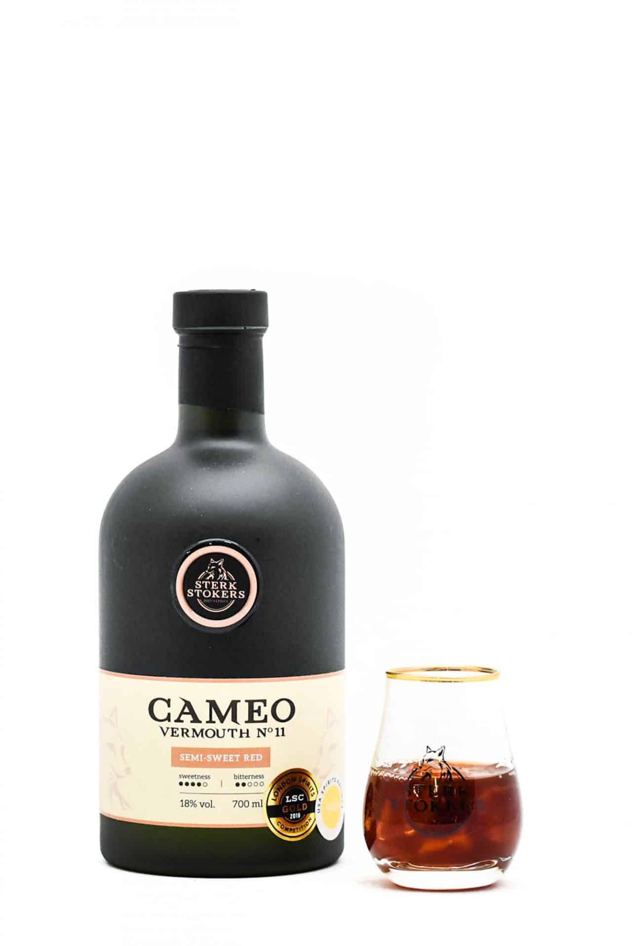 Cameo Vermouth 11 van Sterkstokers met glas