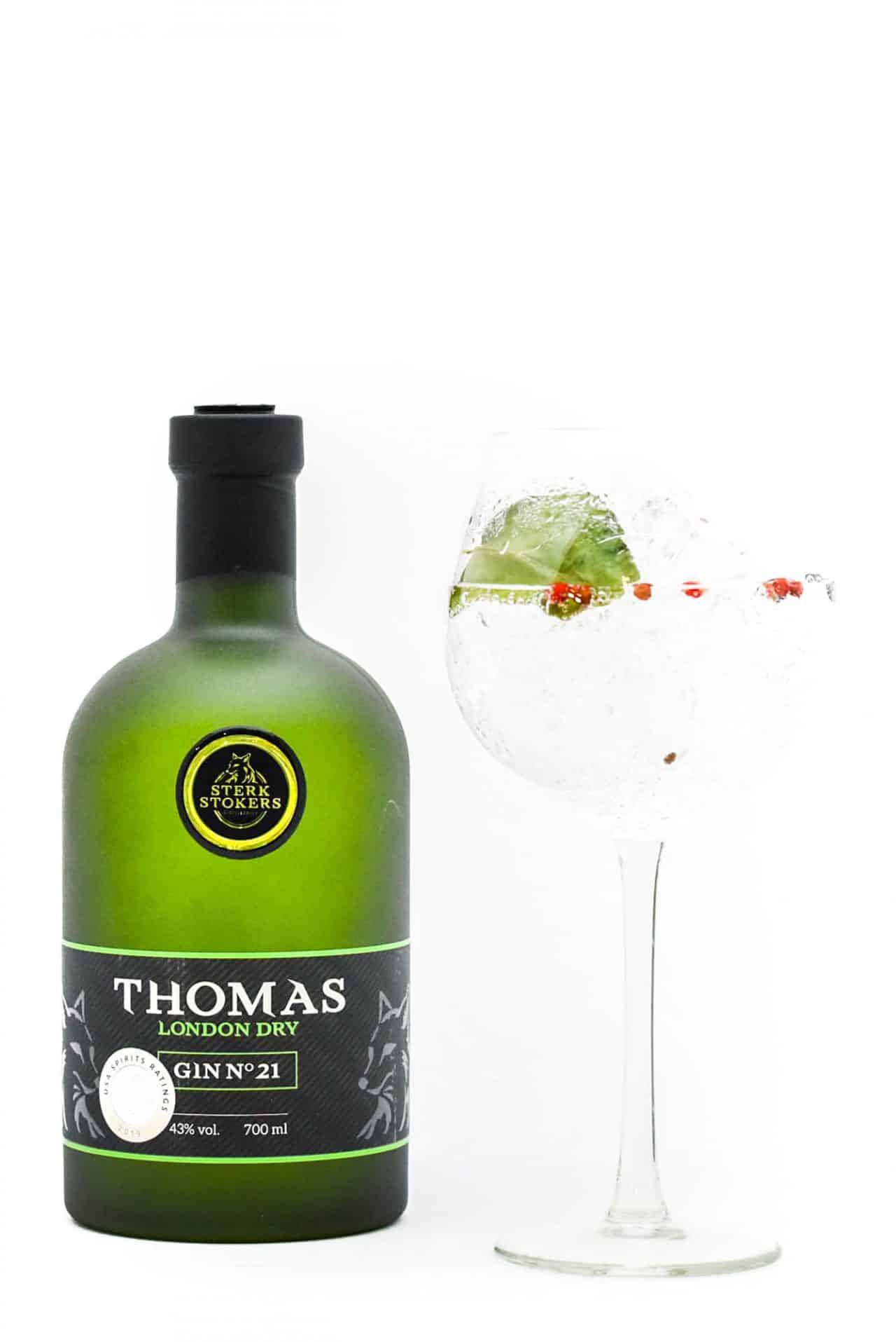 Sterkstokers Thomas Gin met glas