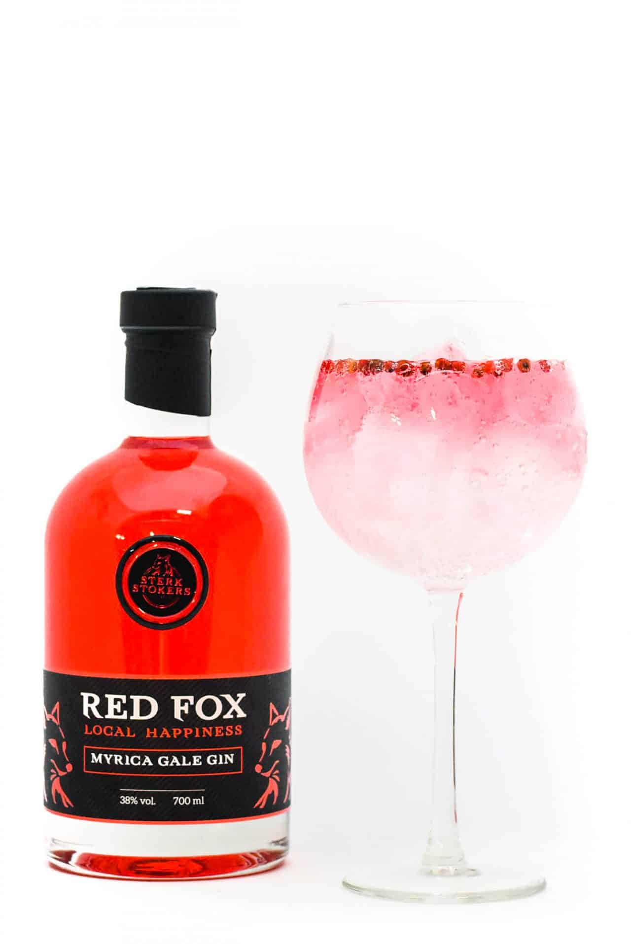 Red Fox Gin van Sterkstokers met Glas