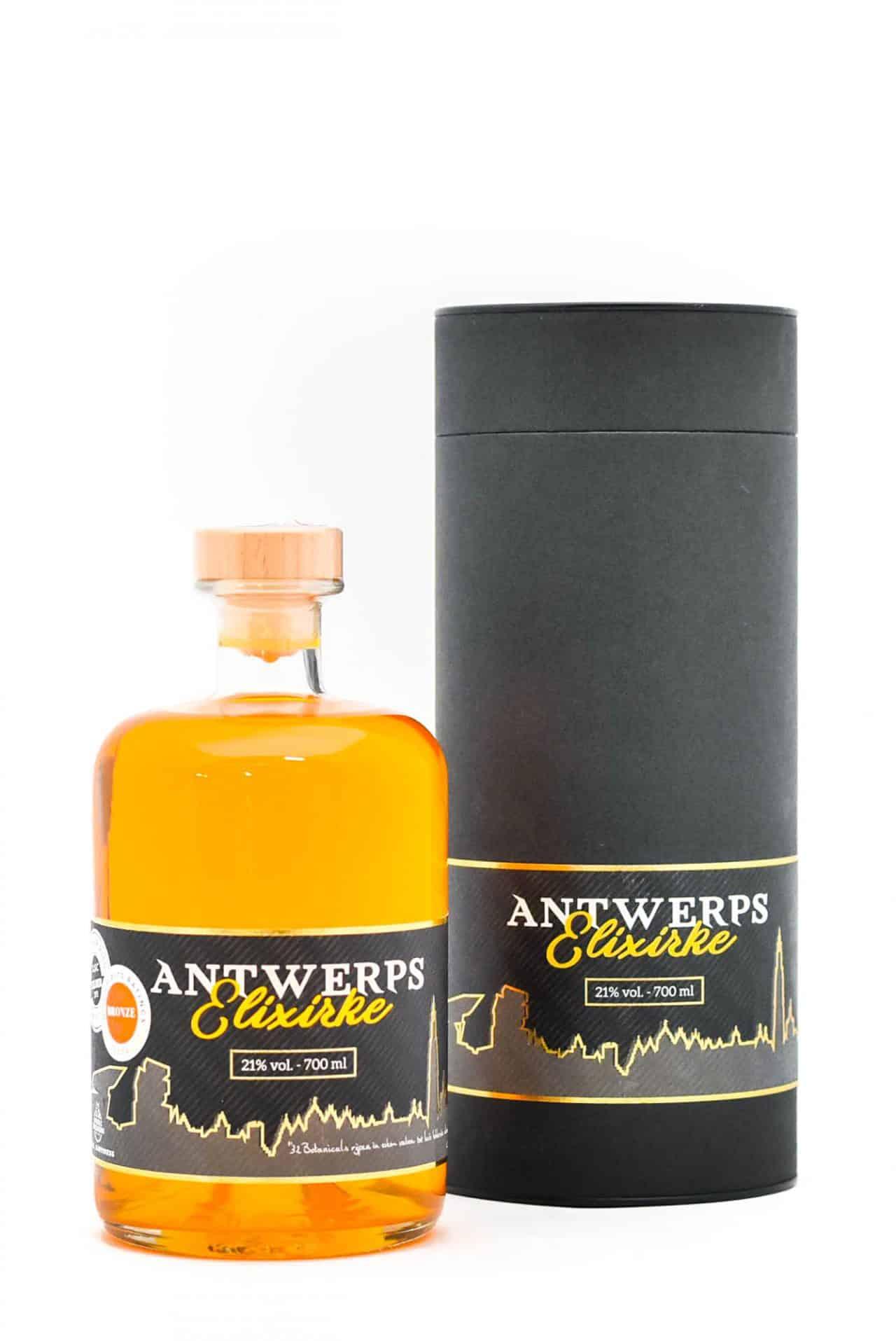 Antwerps Elixirke met doos van Sterkstokers product