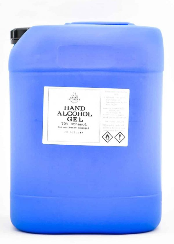Hand alcohol gel van Sterkstokers groot formaat