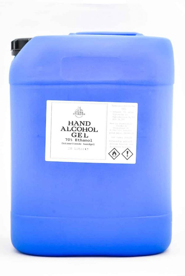 Hand alcohol gel van Sterkstokers groot formaat
